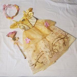 💥Kids💥Disney Belle dress up dress/wand/crown